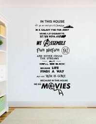 In This House We Do Movies Wall Art Star Wars Harry Potter Avengers Ebay