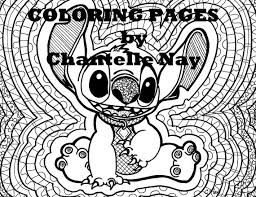 Kleurplaat Pagina Stitch Disney Kunst Volwassen Kleuren Etsy