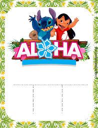 Personalizados Festa Tema Lilo E Stitch Para Imprimir