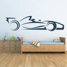 Kaahego F1 Race Car Wall Sticker Transport Wall Buy Stickers Wallpapers At Factory Price Club Factory