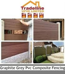 Pvc Composite Plastic Fencing Panels That Fit Into Your Existing Concrete Posts Ebay
