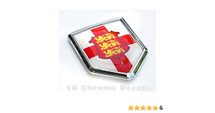 Amazon Com England Flag Of English Emblem Chrome Car Decal Sticker 3d Badge British Automotive