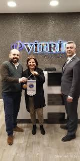 VİTRİN Perde firma sahipleri Serdar Gürel ve ortağı Ahmet Temel ziyareti.