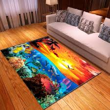 Ocean World 3d Printed Carpets For Living Room Home Area Rugs Kids Room Play Tatami Floor Mats Child Bedroom Decor Large Carpet Buy Rug Cardog From Hobarte 22 49 Dhgate Com