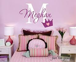Amazon Com Egobena Girly Crown Wall Decals For Girls Bedroom Wall Stickers Nursery Wall Art Decorations Vinyl Girls Baby Wallpaper Home Decor Girls Gift Home Kitchen