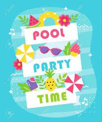 Tarjeta De Invitacion O Poster De Fiesta De Verano O Playa
