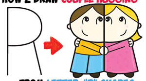 how to draw cartoon couple and