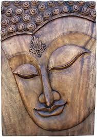 hand carved large buddha panel buddha