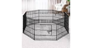 I Pet 8 Panel Pet Dog Playpen Puppy Exercise Cage Enclosure Fence Play Pen Matt Blatt