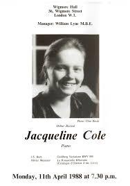 Programme Notes – Jacqueline Cole