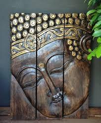 buddha head 3 piece wall panel