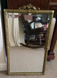 bevelled antique mirror 40 x 60 cms