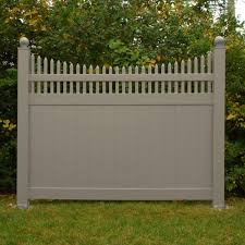 Weatherables Halifax 6 Ft H X 8 Ft W Khaki Vinyl Privacy Fence Panel Kit Pkpr Ots 6x8 The Home Depot In 2020 Privacy Fence Designs Privacy Fence Panels Vinyl Privacy Fence