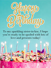happy birthday sister in law messages images birthday