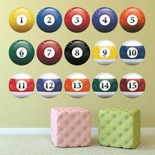 Trinx Billiard Balls Wall Decal Wayfair