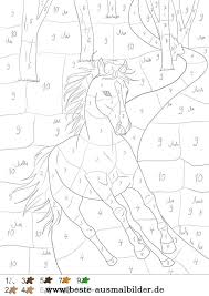 Pferd Im Wald Malen Nach Zahlen Kleuren Met Nummers