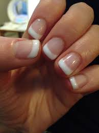 Short French Tip Manicure With Images Gel Nails French White