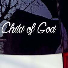 Child Of God Vinyl Decal Sticker Car Window Wall Bumper Macbook Jesus Cross Love Auto Parts And Vehicles Car Truck Graphics Decals Magenta Cl