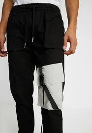 cargo trousers men black clothing