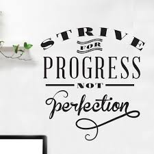 Progress Perfection Quote Wall Decal Shop Decals At Dana Decals