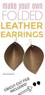 diy folded faux leather earrings on