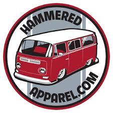 Vw Volkswagen Bay Window Decal Sticker Transporter Kombi Bus Beetle Hammered Ebay