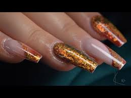 autumn acrylic nail design you