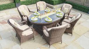 gas fire pit table wick outdoor furniture