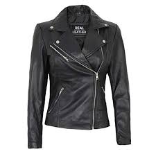 black leather jacket women real