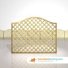 Omega Lattice Fence Panels 5ft X 6ft Natural Berkshire Fencing