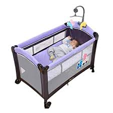 Amazon Com Baby Travel Bed Baby Bed With Fence Cot Crib Foldable Easy To Carry Multi Function Travel Children S Bed Cradle Bed Game Bed Beds Cribs Color D Baby