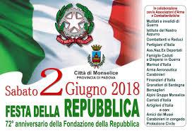 2 GIUGNO 2018 FESTA DELLA REPUBBLICA - Monselice.org