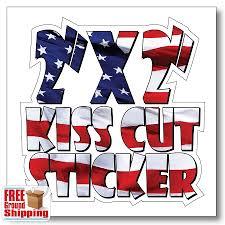 Custom Shaped 2 Inch Square Kiss Cut Stickers