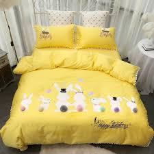 rubbit cute girls bedding set pink