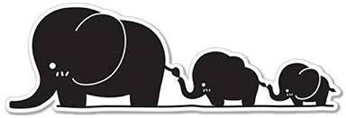 Amazon Com Mom Baby Elephants Together Black Vinyl Sticker Car Phone Helmet Bumper Sticker Decal Automotive