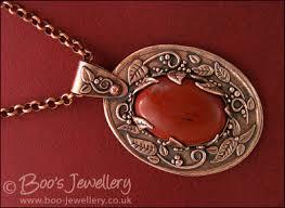 antiqued copper and red jasper cabochon