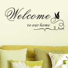 New Quote Removable Vinyl Decal Wall Sticker Welcome To Our Home Home Decor Diy Ems Dhl Fedex Free Shipping Mail 8181 Wall Sticker Wall Sticker Welcomestickers Welcome Aliexpress