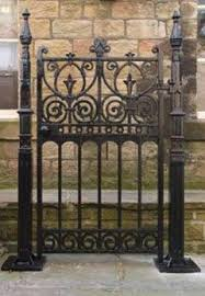 Antique Gates And Railings In Iron Timber Or Stone For Sale Here At Ukaa Iron Garden Gates Cast Iron Gates Gates And Railings