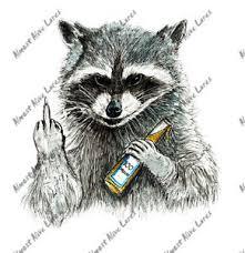 Rude Cartoon Raccoon Auto Boat Rv Window High Quality Vinyl Decal Sticker Ebay