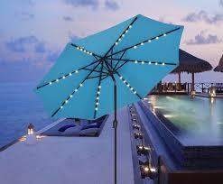 patio umbrellas with solar powered