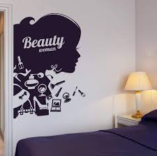 Vinyl Decal Beauty Salon Shop Woman Girl Cosmetic Makeup Wall Stickers Wallstickers4you