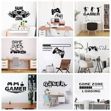 2020 New Gamer Wall Sticker For Game Room Decor Kids Room Decoration Bedroom Decor Door Vinyl Stickers Mural Gaming Poster Buy At The Price Of 0 65 In Aliexpress Com Imall Com