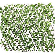 Windscreen4less Expandable Stretchable Artificial Leaf Leaves Faux Ivy Privacy Fence Screen Decor Panel Cover Trellis Fence Fence Decor Decorative Trellis