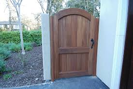 Side Gate Arched Wood Gate Backyard Gates Outdoor Gate