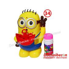 Doremon / Minion thổi bong bóng xà phòng: Dùng pin, có nhạc, thổi ...