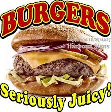 Burgers Decal Choose Your Size Food Truck Concession Vinyl Sign Sticker Ebay