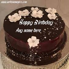 write the name on this chocolate cake image