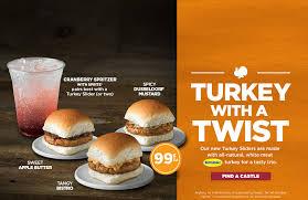 white castle turkey sliders seasonal