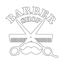 Barber Shop Comb Scissor Vinyl Window Decal Appleton Barber Supply