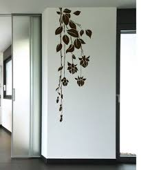 Vinyl Wall Decal Sticker Hanging Flowers 1016 Simple Wall Paintings Wall Painting Decor Creative Wall Painting